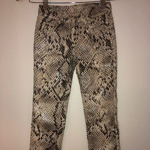 Bonnie Young Snakeskin Pants